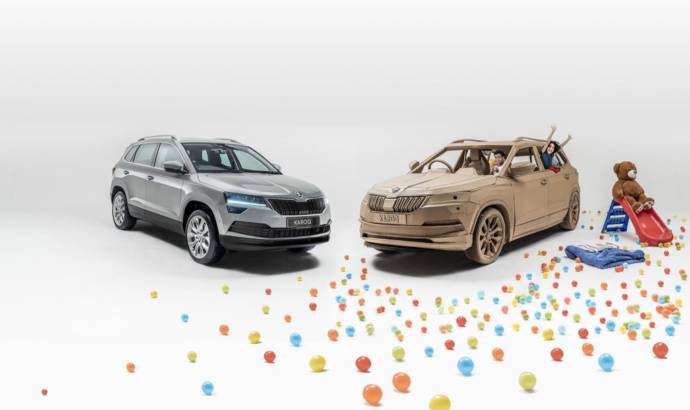 Skoda builds a cardboard Karoq for childrens
