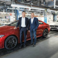 The 2019 Mercedes-Benz CLS is on the assembly line