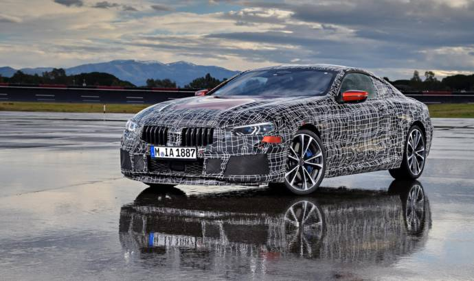 BMW 8 Series prototype testing in Italy