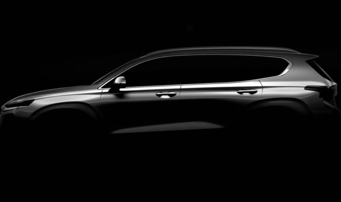 First teaser picture with the upcoming Hyundai Santa Fe