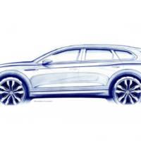 2018 Volkswagen Touareg - first official sketch