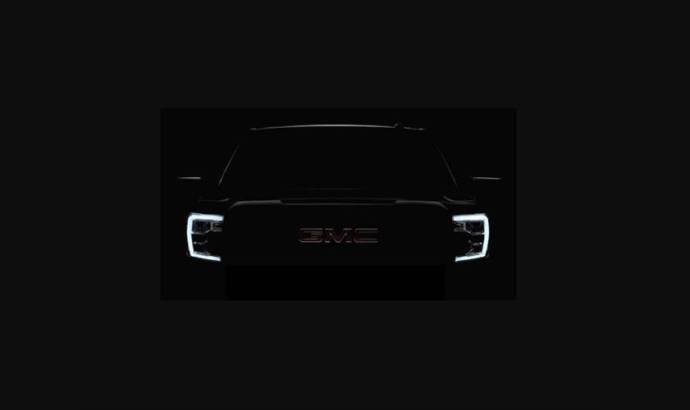 First teaser image of the new GMC Sierra