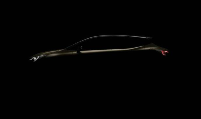 First teaser of the Toyota Auris Hybrid with a new engine