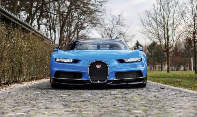 This Bugatti Chiron was sold for more than 4 million USD