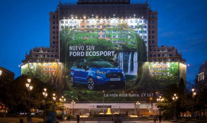 This is the biggest billboard in the world. And Ford EcoSport is the star