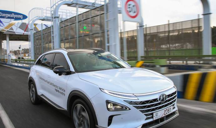 Hyundai launched the world first self-driven fuel cell car