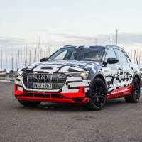Audi e-tron prototype was unveiled in Geneva