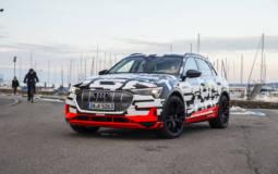 Audi e-tron prototype was unveiled in Geneva