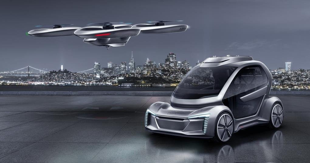 Pop.Up Next car developed by Audi and Airbus