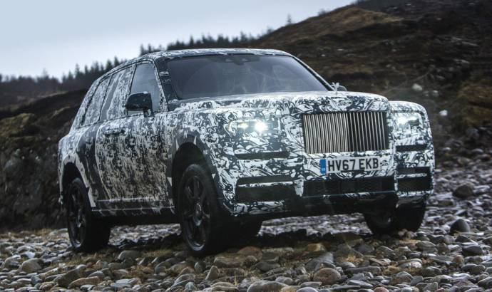 Rolls Royce Cullinan enters its final stage of development