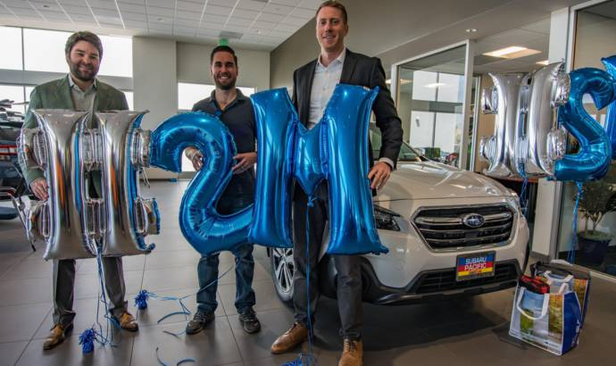 Subaru sold its two millionth Outback in the US