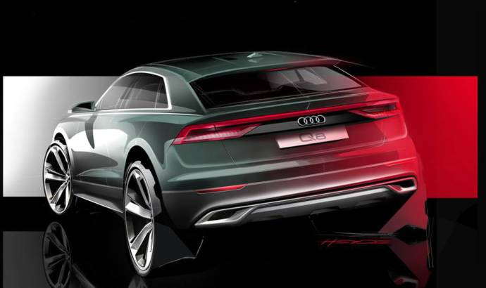 Audi Q8 - another teaser with the German SUV