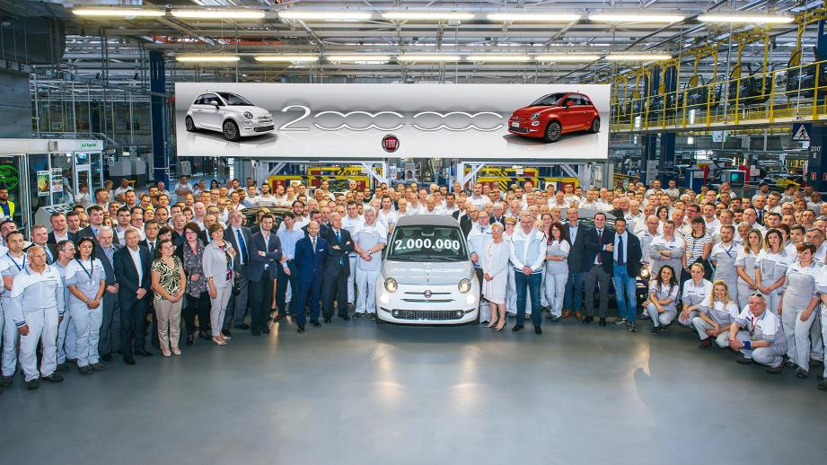 Fiat 500 reaches two million cars in Tychy factory