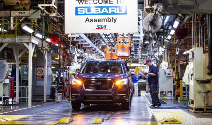 Subaru Ascent production started in Indiana