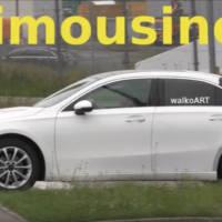 2019 Mercedes-Benz A-Class Sedan spied - Video