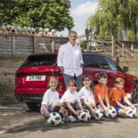Jose Mourinho and Jaguar XF Sportbrake, back to school