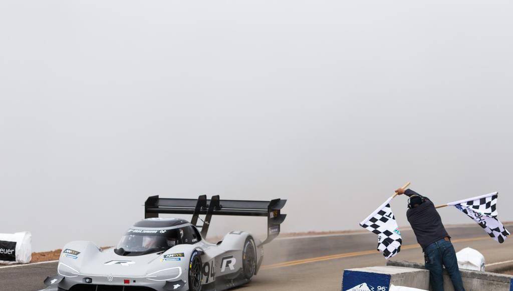 Volkswagen I.D R set a new record on Pikes Peak Hill Climb