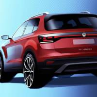 First teaser picture of the upcoming 2019 Volkswagen T-Cross SUV