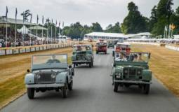 Largest Land Rover parade on Goodwood Hill Climb