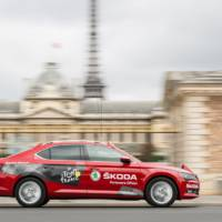 Skoda is the official partner of the Tour de France