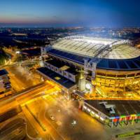 148 Nissan Leaf batteries were used to power this stadium