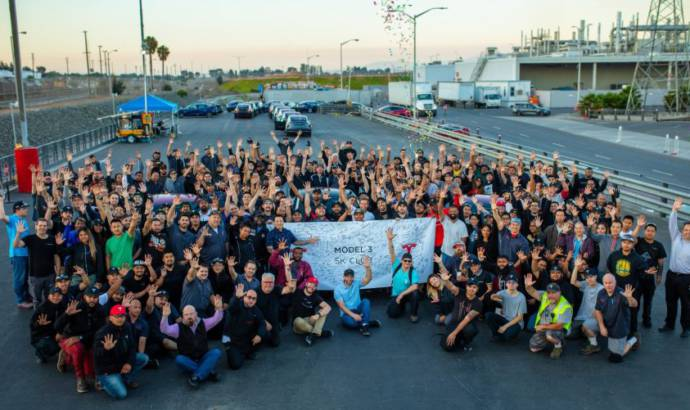 Mission accomplished for Tesla - 5.000 Model 3 produced in just one week