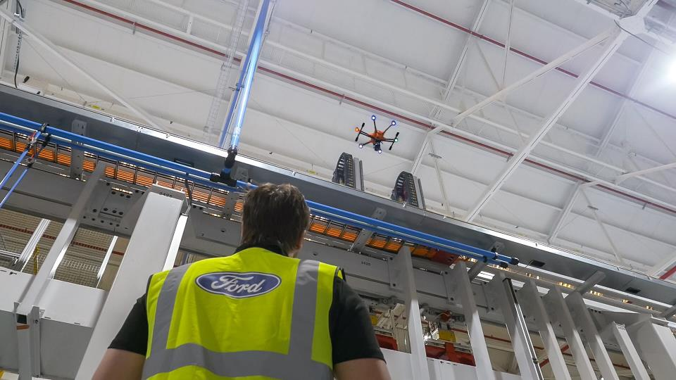 Ford uses drones to supervise its plant activity