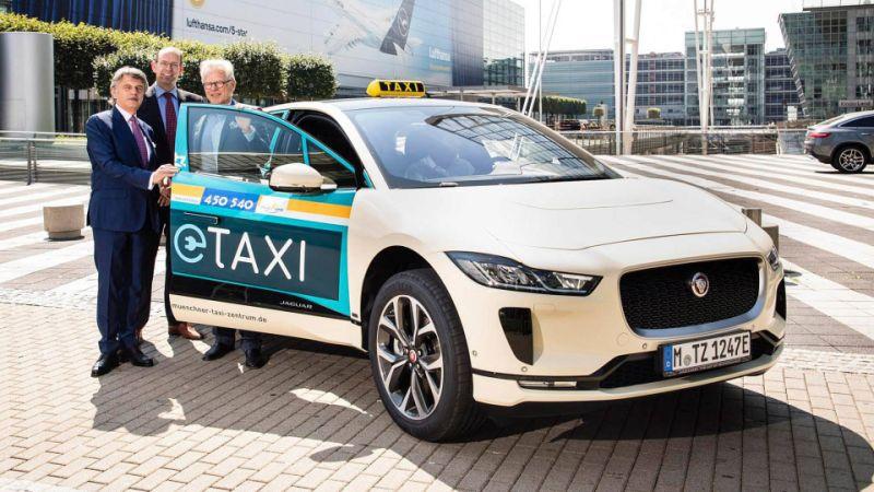 Jaguar I-Pace - a new taxi in Munich