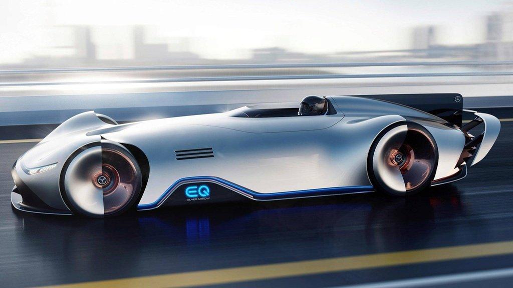 Mercedes-Benz Vision EQ Silver Arrow - the future of sportscar