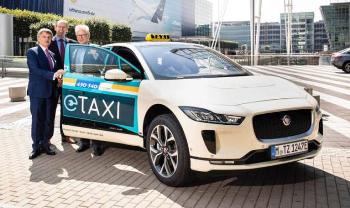 Jaguar I-Pace - a new taxi in Munich