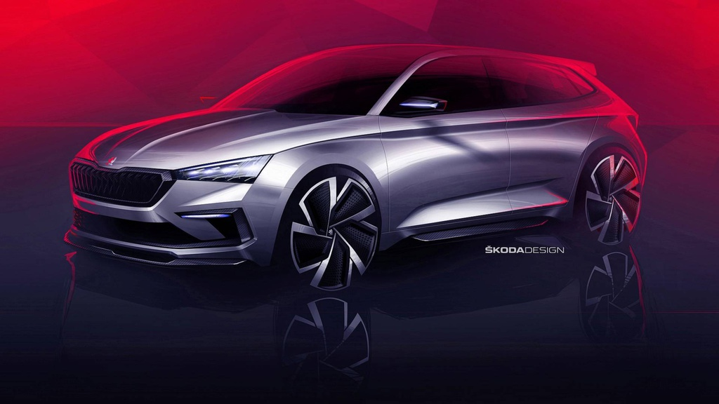 Skoda Vision RS - first design sketches