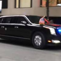 This is the first ride of the new Trump limousine