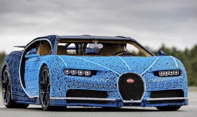 Lego built a Bugatti Chiron replica which is drivable