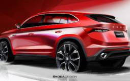 First design sketches with the upcoming Skoda Kodiaq GT
