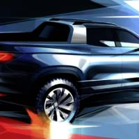 First teaser picture of the upcoming Volkswagen pickup concept car