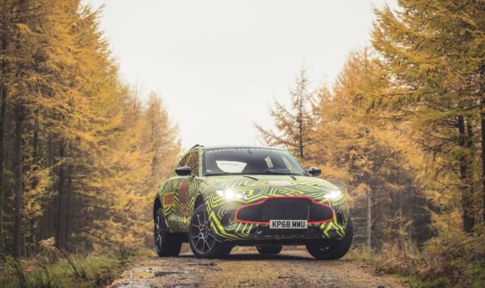 Aston Martin DBX begins testing