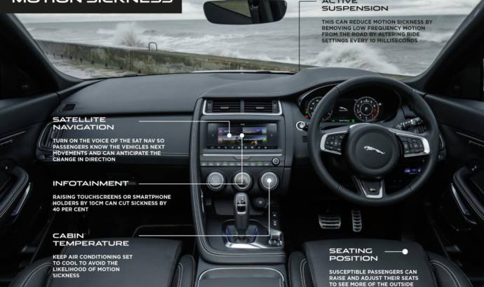 Jaguar and Land Rover vehicles will detect motion sickness