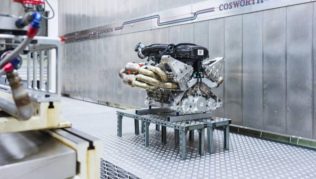 Aston Martin Valkyrie V12 engine detailed