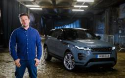 Jamie Oliver drove the new Range Rover Evoque
