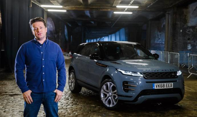Jamie Oliver drove the new Range Rover Evoque