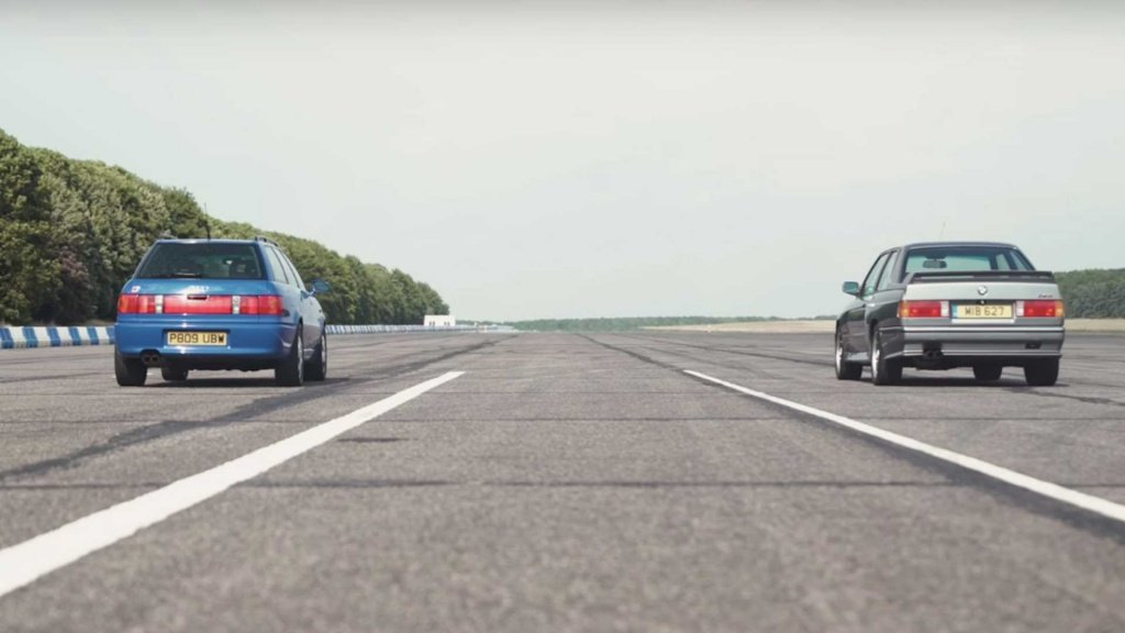 That 90s again: BMW E30 M3 face to face with Audi RS2