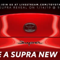 Toyota Supra teaser again. The sports car will be unveiled next week