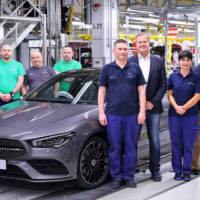 Mercedes-Benz starts production of the new 2020 CLA Coupe