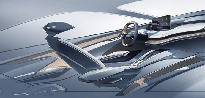 Skoda Vision IV interior sketches revealed