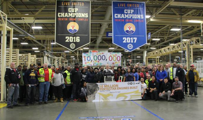 FCA celebrates 10 million Pentastar engines produced