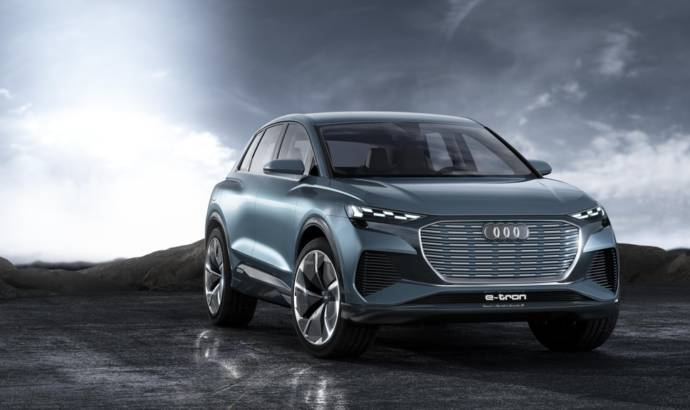 Audi Q4 e-tron concept car announces a new electric SUV