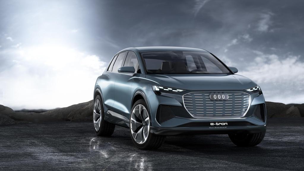 Audi Q4 e-tron concept car announces a new electric SUV