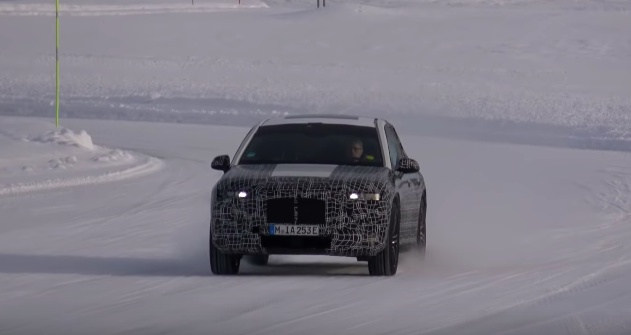VIDEO: BMW iNext prototype spied during winter testing