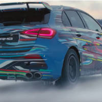 A new video teaser of the upcoming 2020 AMG A45 hot hatch