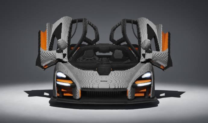 McLaren Senna made entirely out of Lego bricks